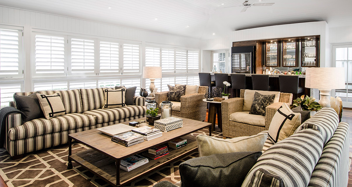 Highgate house brisbane based interior designers and for Queenslander living room ideas